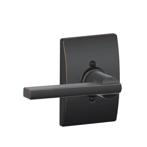 Latitude Lever with Century trim Non-turning Lock - Aged Bronze