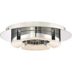 Lunette Flush Mount in Polished Chrome