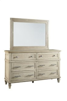 Drawer Dresser \u0026 Mirror - Flax Finish