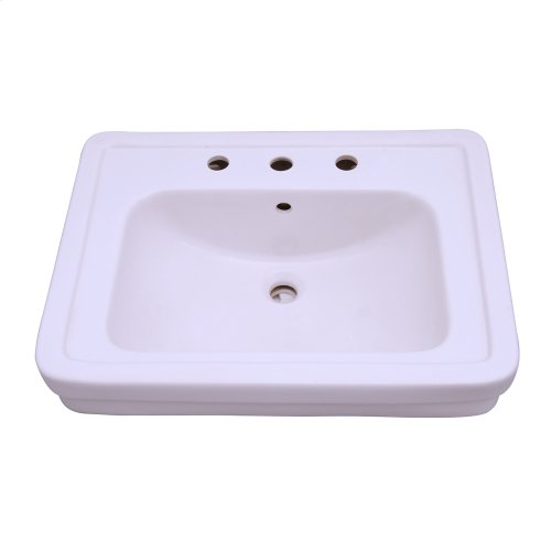 Sussex 550 Pedestal Lavatory - White