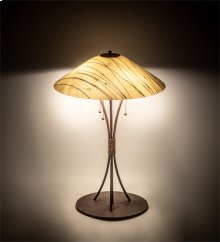 "27"" High Metro Fusion Branches Glass Table Lamp"