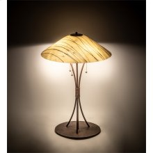 """27"""" High Metro Fusion Branches Glass Table Lamp"""