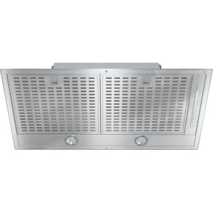 MieleInsert ventilation hood with energy-efficient LED lighting and backlit controls for easy use.