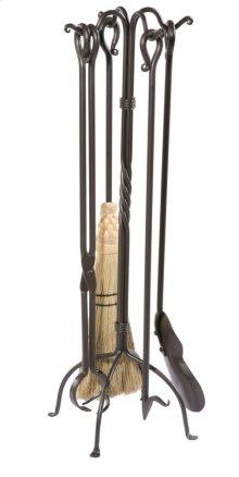 Iron Firetool Set - Shepherds Crook - 5 Piece