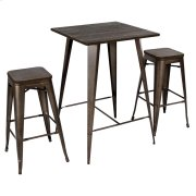 Oregon Pub Set - Espresso Wood / Antique Product Image