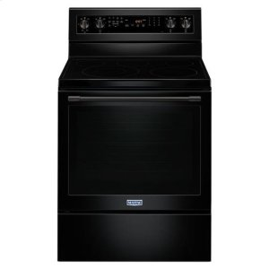 Maytag® 30-Inch Wide Electric Range With True Convection And Power Preheat - 6.4 Cu. Ft. - Black - BLACK