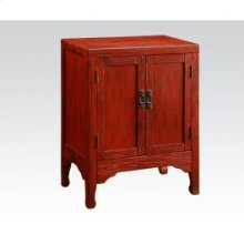 Ant. Dark Red Console Table