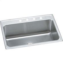 "Elkay Lustertone Classic Stainless Steel 31"" x 22"" x 10-1/8"", Single Bowl Drop-in Sink with Perfect Drain"