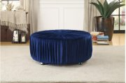 Round Ottoman, Navy Product Image