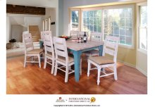 White & Blue Dining Table