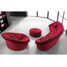 Divani Casa Cosmopolitan Mini - Red Sectional Sofa Set Product Image