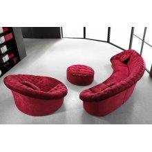Divani Casa Cosmopolitan Mini - Red Sectional Sofa Set