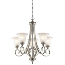 Monroe Collection Monroe 5 Light Chandelier - Brushed Nickel