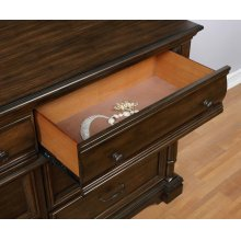 Chandler Traditional Heirloom Brown Dresser