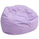 Oversized Lavender Dot Bean Bag Chair Product Image