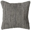 Grey Leather Chindi Pillow (Each One Will Vary) Product Image