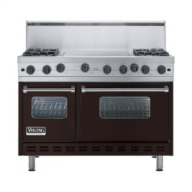 "Chocolate 48"" Open Burner Range - VGIC (48"" wide, four burners 24"" wide griddle/simmer plate)"