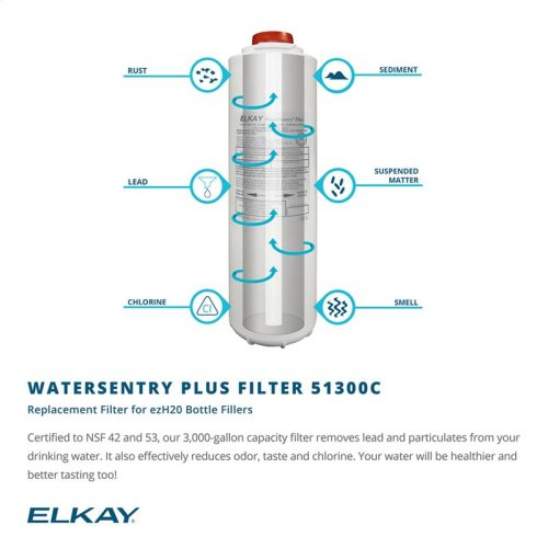 Elkay EZH2O Bottle Filling Station, & Single High Efficiency Vandal-Resistant Cooler, Filtered 8 GPH Stainless
