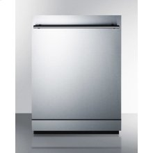 """24"""" Wide Energy Star Certified Dishwasher Made In Europe With Stainless Steel Door and Top Controls"""