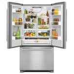 Kitchenaid 22 Cu. Ft. 36-Inch Width Counter Depth Panel Ready With Interior Dispense French Door Refrigerator