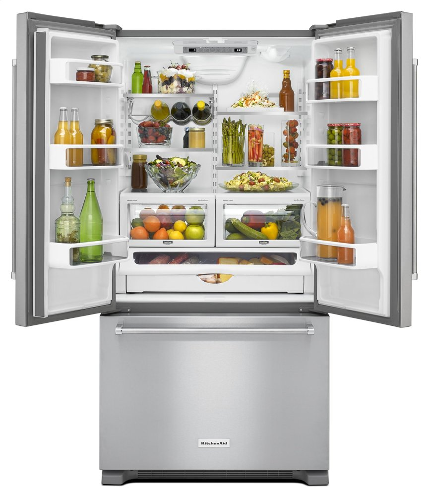 36 Inch Width Counter Depth French Door Refrigerator With Interior