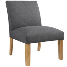 Auteur Upholstered Fabric Armchair in Gray