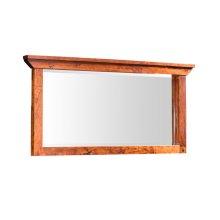 "B&O Railoade Trestle Bridge Bureau Mirror, B&O Railroade Trestle Bridge Bureau Mirror, 57""w"
