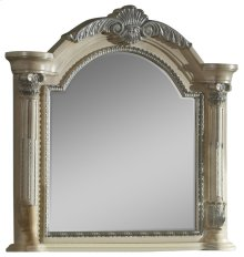 Sienna Antique White Mirror - 50''L x 5''D x 48''H