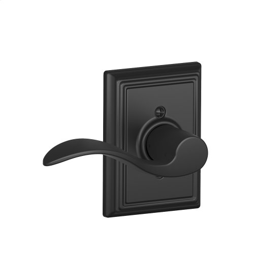 Accent Lever with Addison trim Non-turning Lock - Matte Black