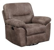 Swivel Glider Recliner Almond Brown