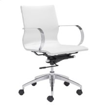 Glider Low Back Office Chair White