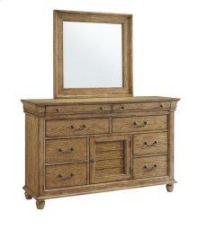 Dresser \u0026 Mirror - Aged Oak Finish