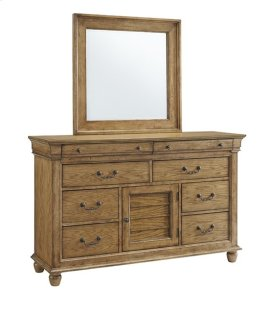 Dresser \u0026 Mirror - Aged Oak Finish
