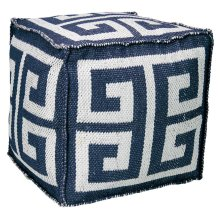 "Outdoor Pillow As555 Navy 16"" X 16"" X 16"" Pouf"