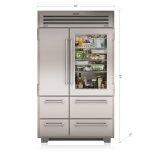"SUB-ZERO48"" PRO Refrigerator/Freezer with Glass Door"