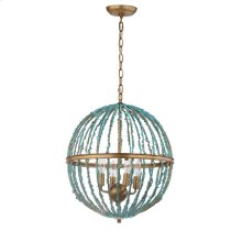Lalita Cage Chandelier - Blue