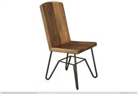 Solid Parota Chair w/ Iron base