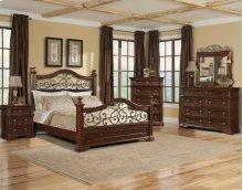 San Marcos Queen Bedroom Group: Queen Bed, Nightstand, Dresser & Mirror