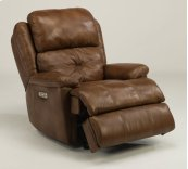 Cruise Control Leather Power Gliding Recliner with Power Headrest