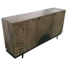 Bengal Manor Iron Base and Carved Sun 3 Door Sideboard