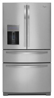 36-inch Wide 4-Door Refrigerator with More Flexible Storage