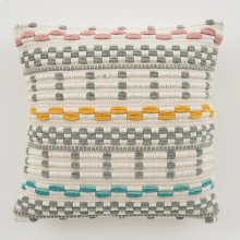 Woven Avery Pillow - Grey