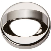 Tableau Round Base and Top 1 7/16 Inch - Polished Nickel