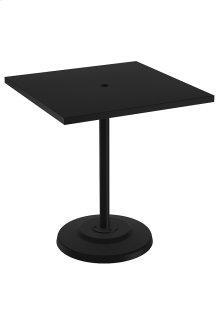 "Ion 36"" Square KD Pedestal Bar Umbrella Table"