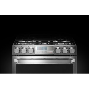 LG AppliancesLG SIGNATURE 6.9 cu.ft. Smart wi-fi Enabled Gas Double Oven Slide-In Range with ProBake Convection(R)