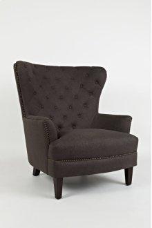 Conner Wingback Accent Chair- Easy Living Charcoal