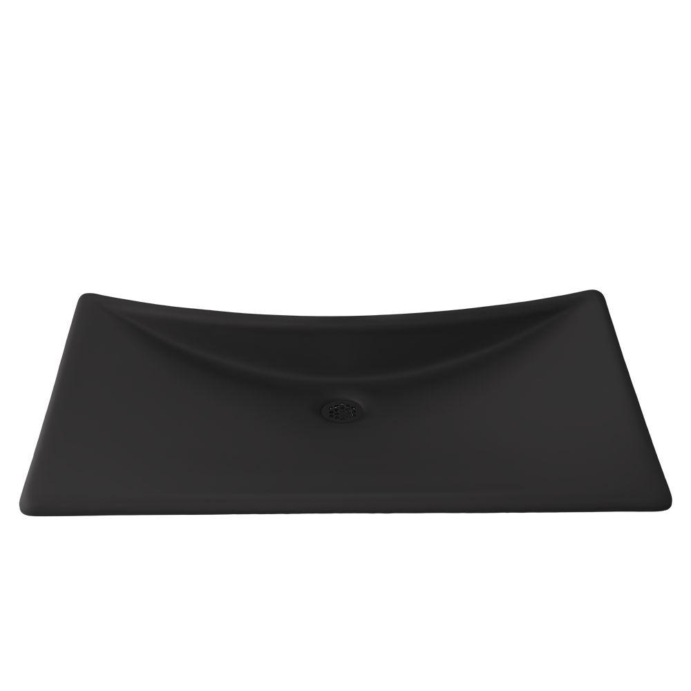 Waza® Noir™ Cast Iron Lavatory - Matte Black