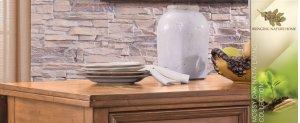 """Mossy Oak Kitchen Island Table w/ 13"""" Folding Leaf"""