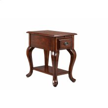 Shenandoah Chairside Table With Usb / Electrical Outlets In Dark Stain
