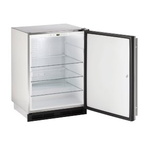 "U-Line 1000 Series 24"" Outdoor Refrigerator With Stainless Solid Finish And Field Reversible Door Swing (115 Volts / 60 Hz)"